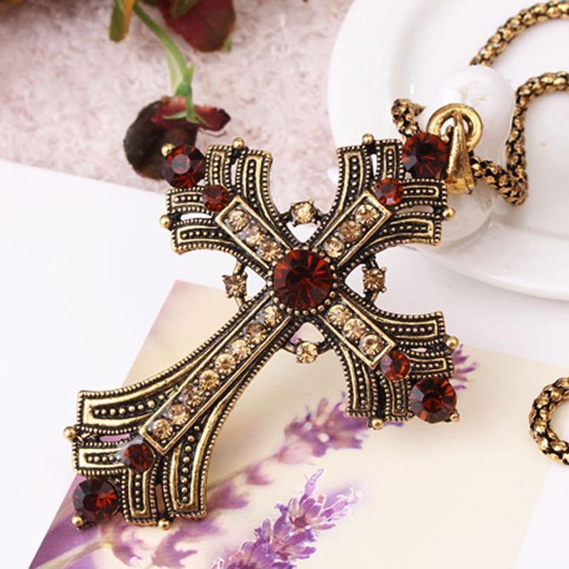 Cross Adjustable Bail Pendant Christian Cross - Shirt King Shop