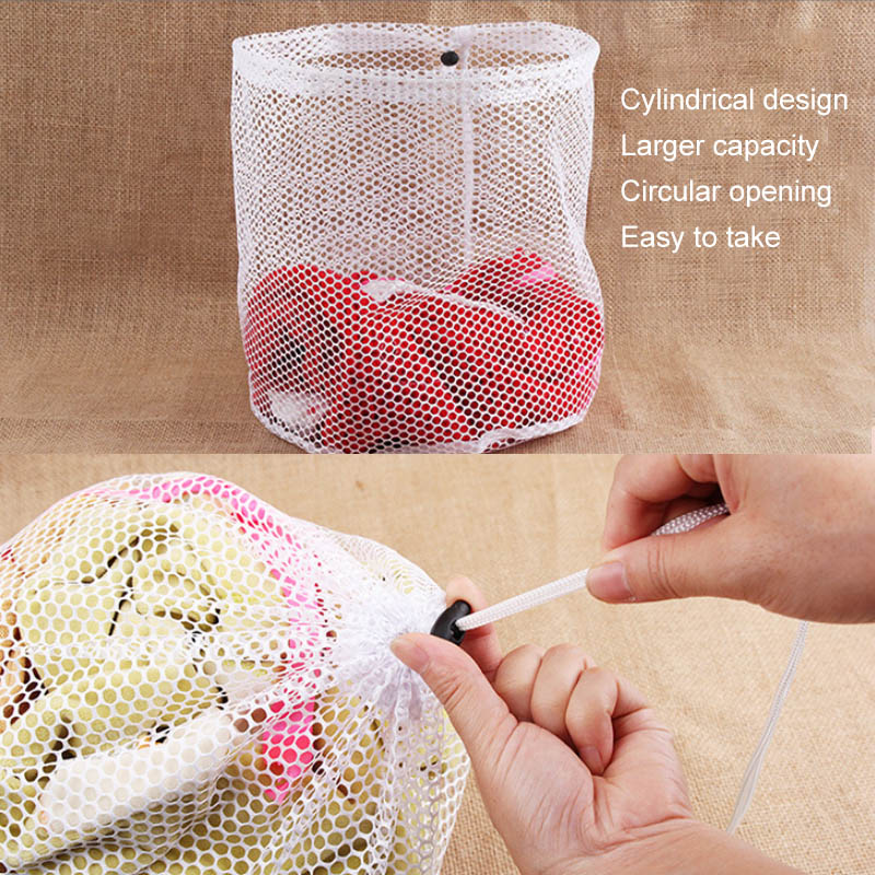 Nylon Mesh Washing Bags Underwear Bra Laundry Bag Basket Household Clean Organizer Drawstring Beam Port Household Cleaning - Shirt King Shop