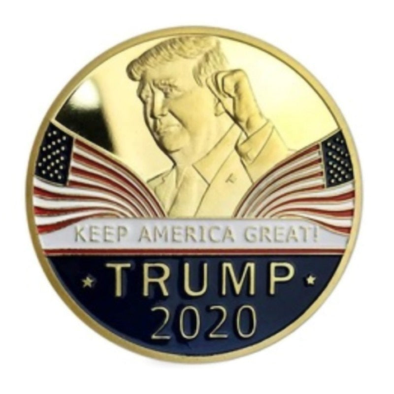 1pc Donald J. Trump 2020 Keep America Great Commander In Chief Gold Challenge Coin Commemorative America 45th President Novelty - Shirt King Shop