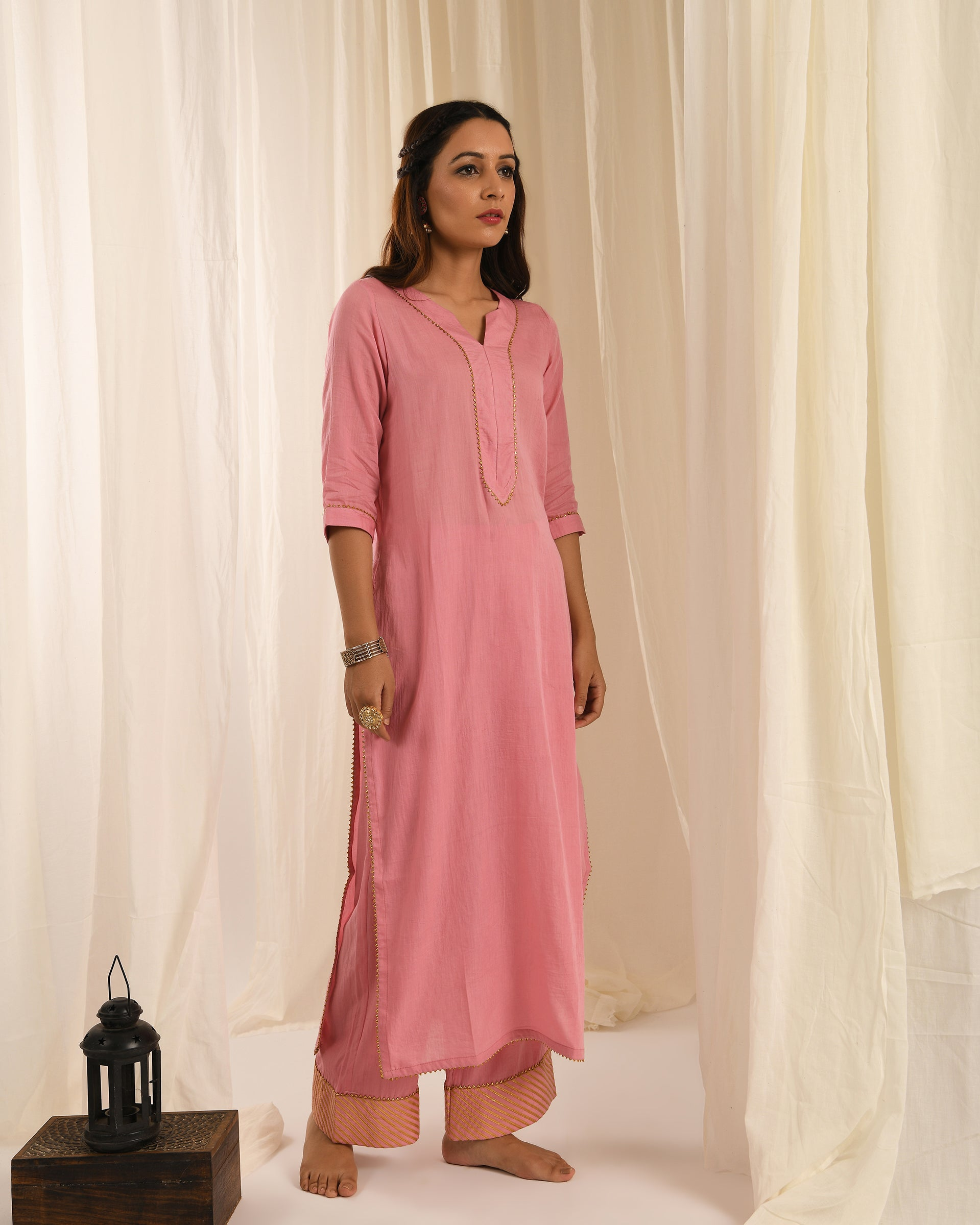 Old rose kurta set of 2