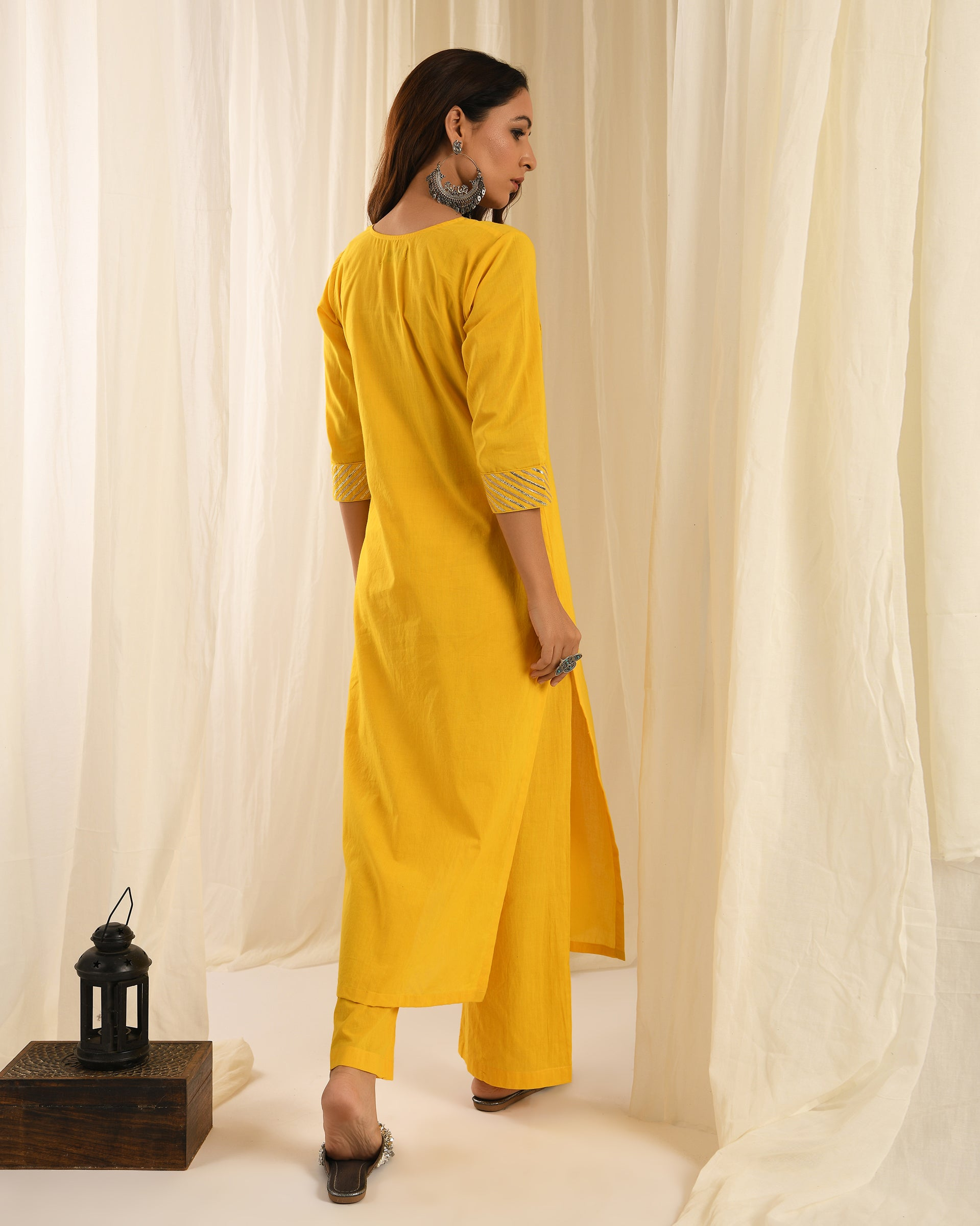 Yellow gota kurta set of 3