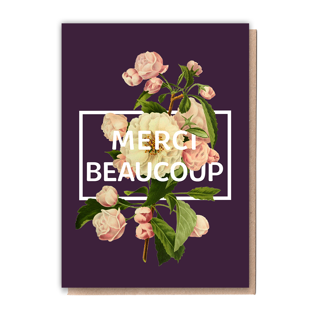 Merci Beaucoup Greeting Card & Flower Seed Token - Beautykind