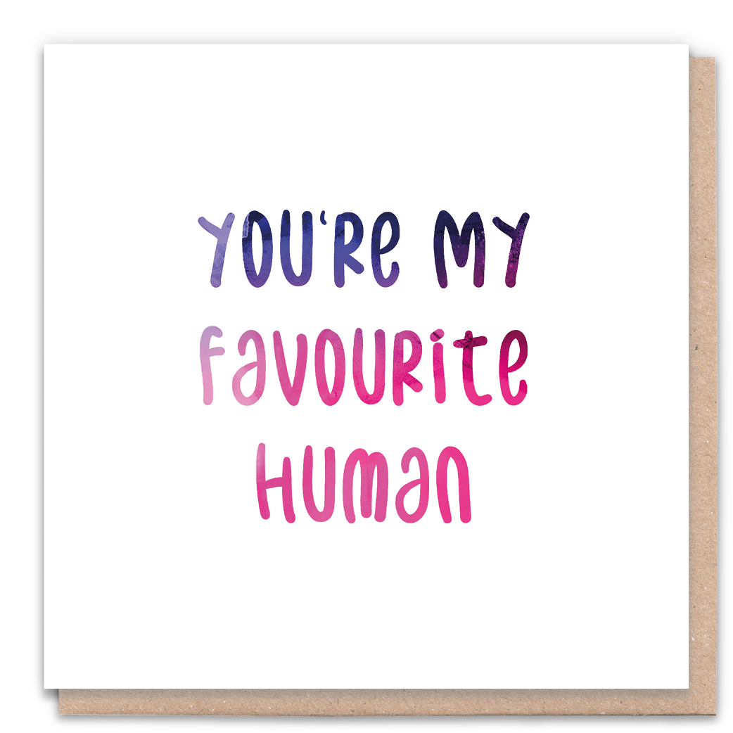 Favourite Human Greeting Card & Flower Seed Token - Beautykind