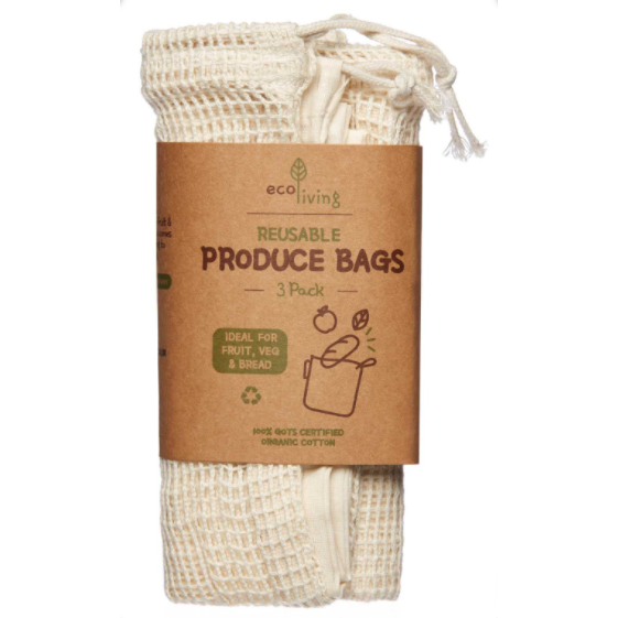 Set of 3 Organic Produce Bags - Beautykind