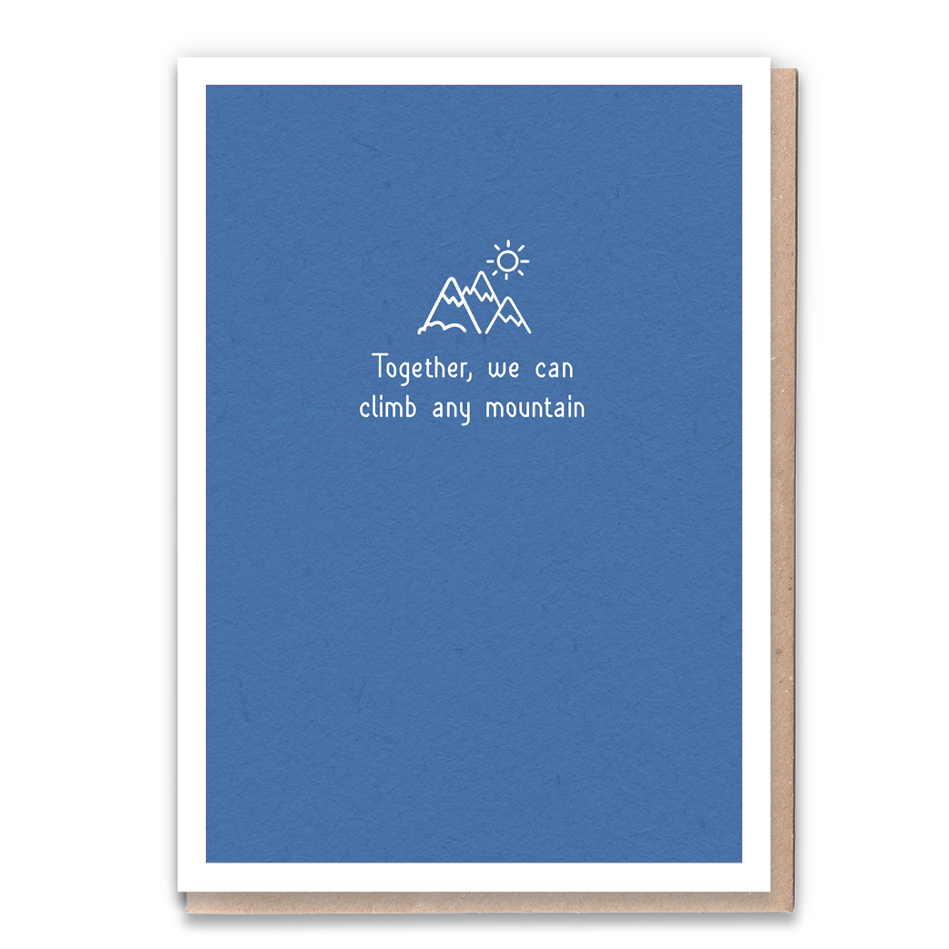 Climb Any Mountain Greeting Card & Flower Seed Token - Beautykind