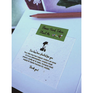 Dad Greeting Card & Flower Seed Token - Beautykind