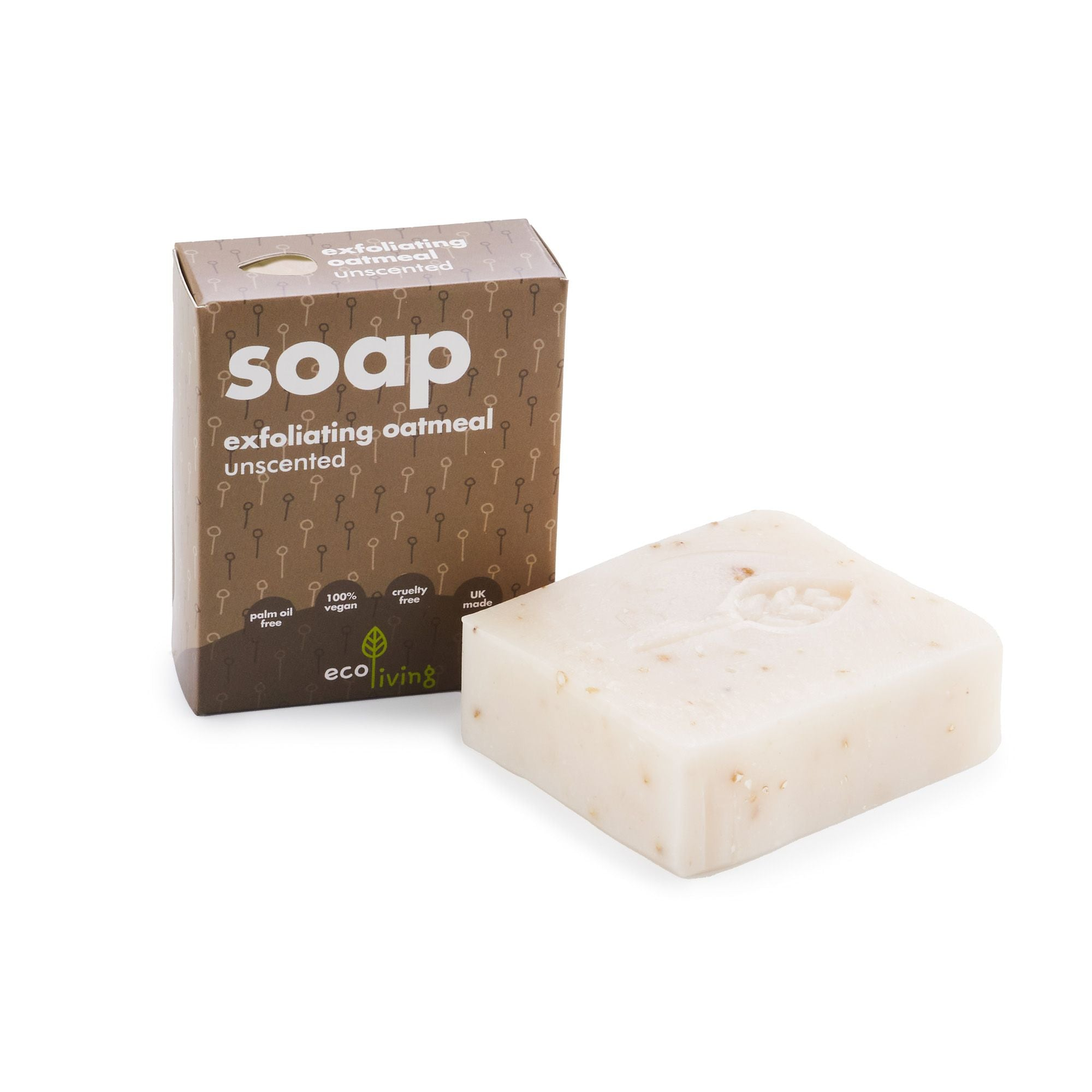 Unscented Exfoliating Oatmeal Handmade Soap (100g) - Beautykind
