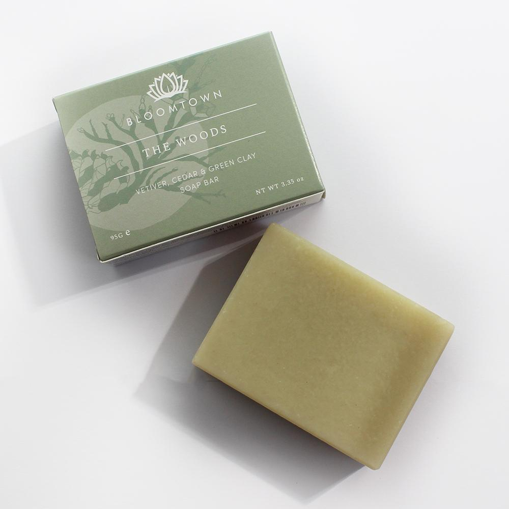 Nourishing Soap Bar: The Woods - Vetiver, Cedar & Bergamot (95g) - Beautykind