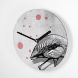 Mini Wanduhr – Leaving Flamingo – 15cm