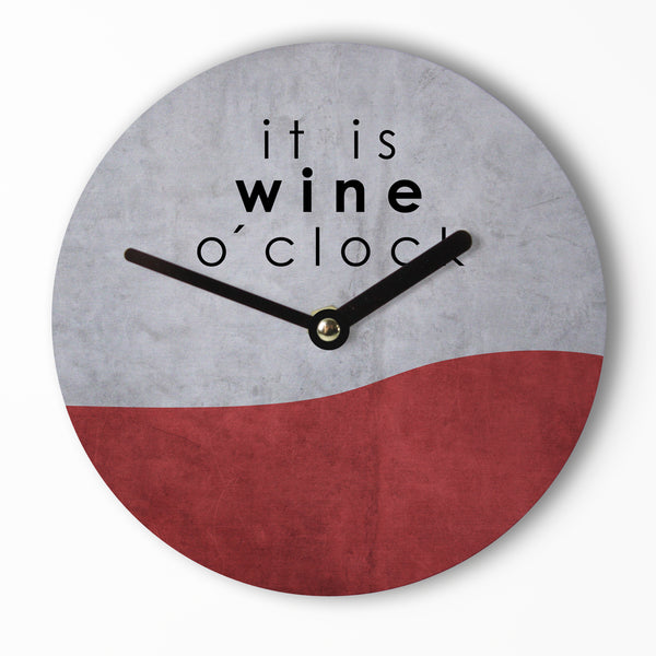 Mini Wanduhr – Wine o´Clock – 15cm