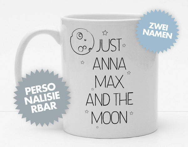 Personalisierbare Tasse mit Namen - Just the Moon - 325ml - Handmade