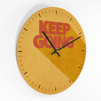 Wanduhr – Keep Going - 30cm