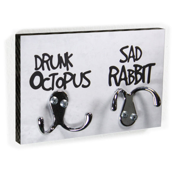 Schlüsselbrett - Drunk Octopus & Sad Rabbit
