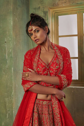 Traditional Red Bridal Lehanga (LG-35)