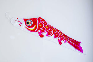 Red Koinobori (Flying Carp Streamer)