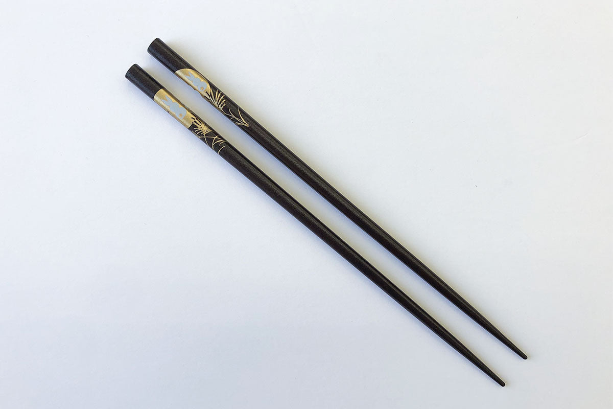Moon Rabbit Chopsticks (Very Dark Brown)