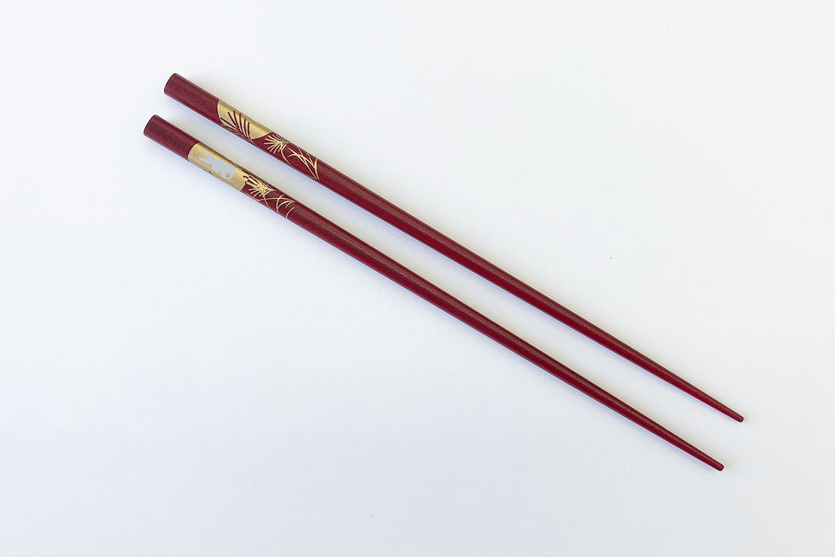 Moon Rabbit Chopsticks (Red)