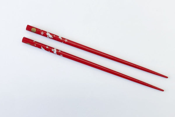 Jumping Rabbit Chopsticks (Red)