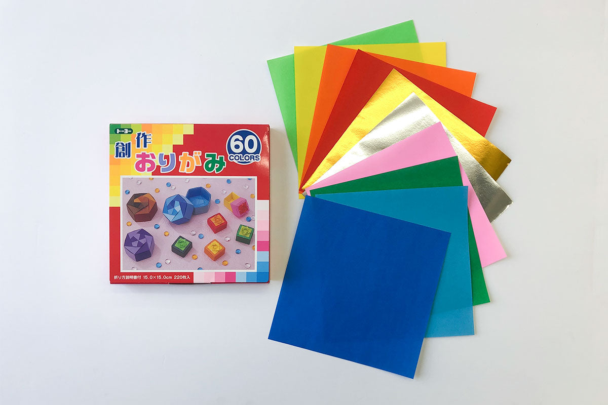 Origami Paper Assortment  (60 Colors)