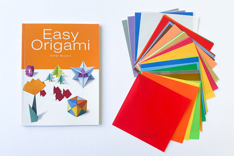 Easy Origami Book & Origami Paper Set