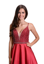 Load image into Gallery viewer, Red prom dress
