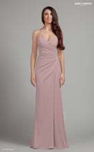 Load image into Gallery viewer, Plain pink fitted evening dress