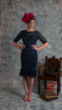 Load image into Gallery viewer, Navy embellished dress