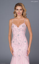 Load image into Gallery viewer, Pink glitter prom dress