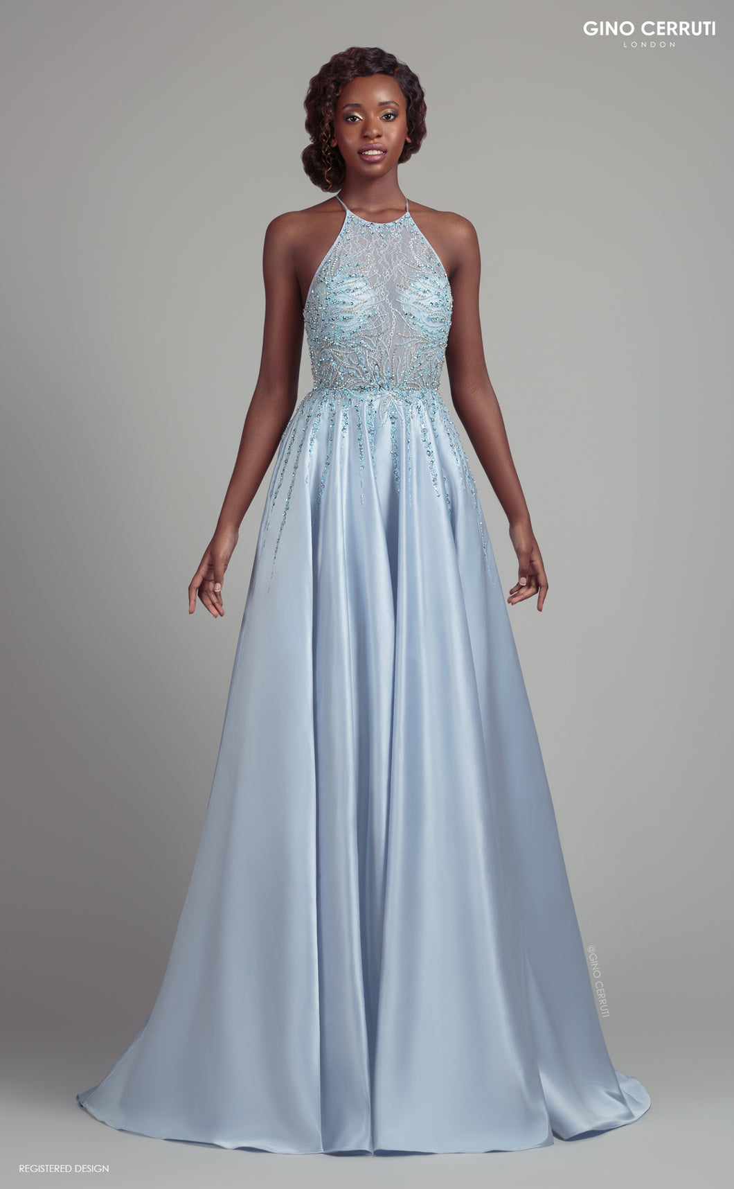 Ice Blue Cinderella Prom dress