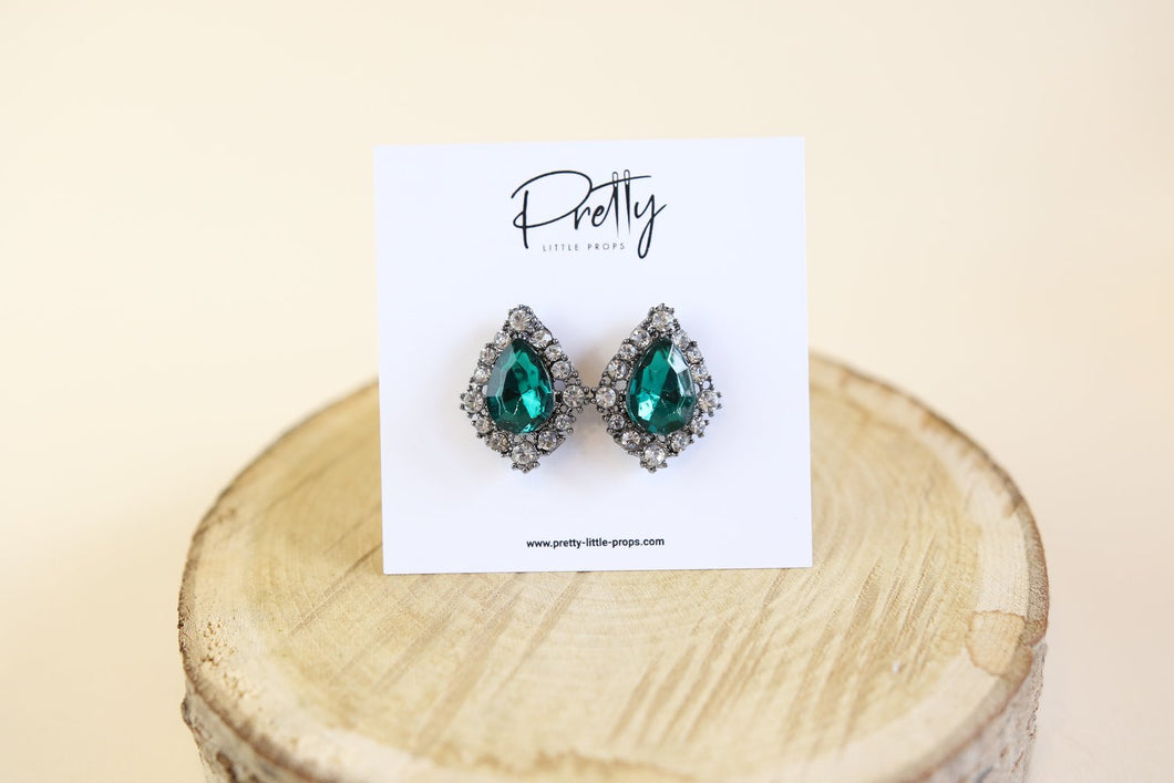 Green Pear Earrings
