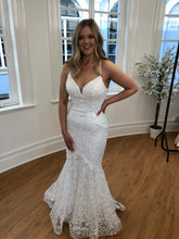 Load image into Gallery viewer, white lace prom dress