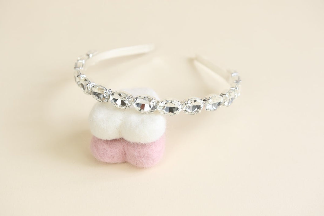 sparkly head band with rhinestone detail.