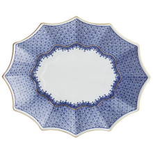Load image into Gallery viewer, Blue Lace Fluted Tray by Mottahedeh