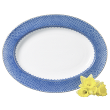 Load image into Gallery viewer, Blue Lace Oval Platter