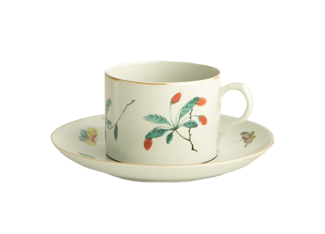 Famille Verte Large cup and Saucer