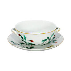 Famille Verte Boullion Cup and Saucer