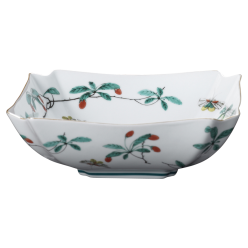 Famille Verte Low Square Bowl