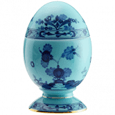 Oriente Italiano Small Iris Covered Egg by Ginori 1735
