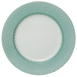 Green Lace Dinner Plate By Mottehedeh