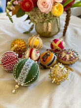 Load image into Gallery viewer, Collection of Vintage Push Pin Ornaments - Gold, Red and Green