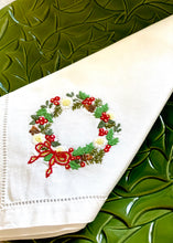 Load image into Gallery viewer, Linen Wreath Napkins