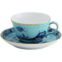Oriente Italiano Iris Tea Cup and Saucer by Ginori 1735