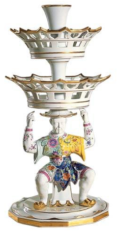 Tobacco Leaf Man Epergne by Mottahedeh