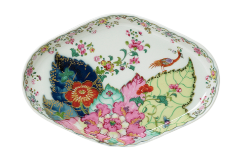 Tobacco Leaf Oval Tray/Bread Plate