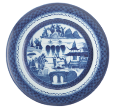 Blue Canton Dinner Plate by Mottahedeh, Large