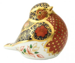 Robin Paperweight by Royal Crown Derby Old Imari