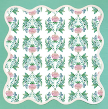 Load image into Gallery viewer, Garden Rose Scalloped Placemat by Fenwick Fields