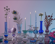 Load image into Gallery viewer, Tall Purple Candle Holder By Opaline Atelier