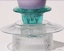 Load image into Gallery viewer, Set of Three - Reversible Blue Candle Holders/Dishes by Opaline Atelier