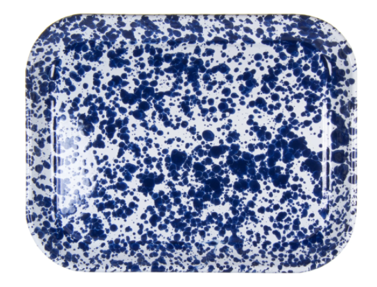 Splatterware Enamelware Half Sheet Tray